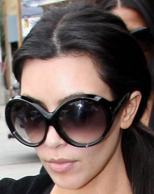 Kim Kardashian Wearing Tom Ford Sunglasses Women Celebrity Sunglasses Stylish Sunglasses