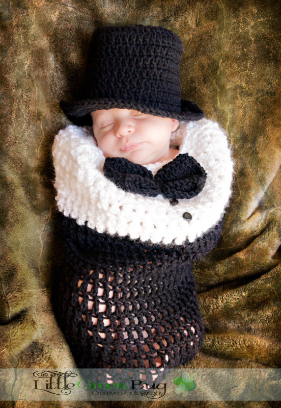 Baby\'s First Tuxedo - Baby Cocoon Top Hat - Baby Boy Hat Perfect for ...