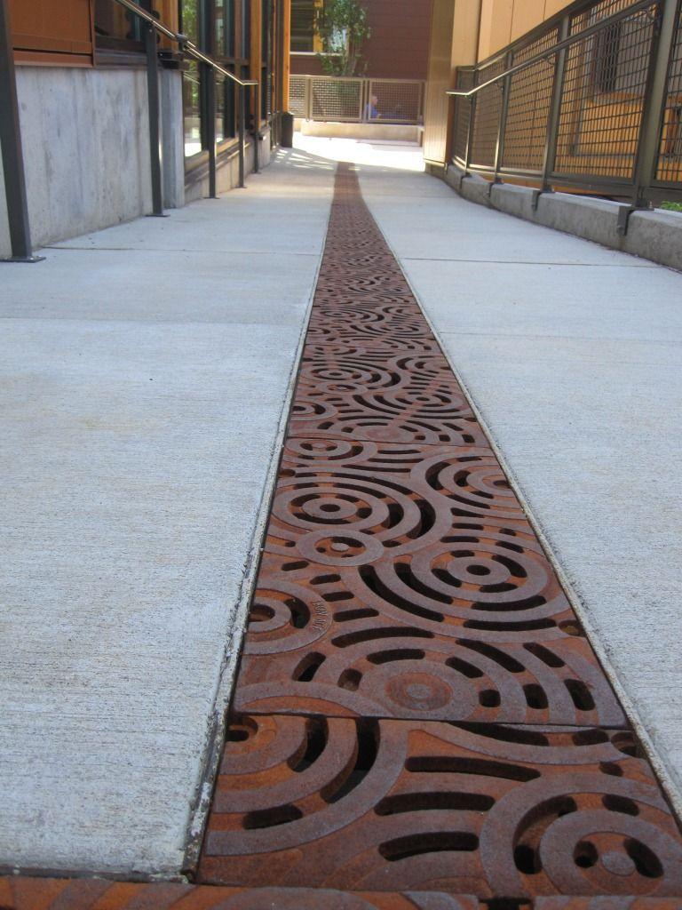 Oblio Trench Grate Raw Cast Iron Drainage Grates