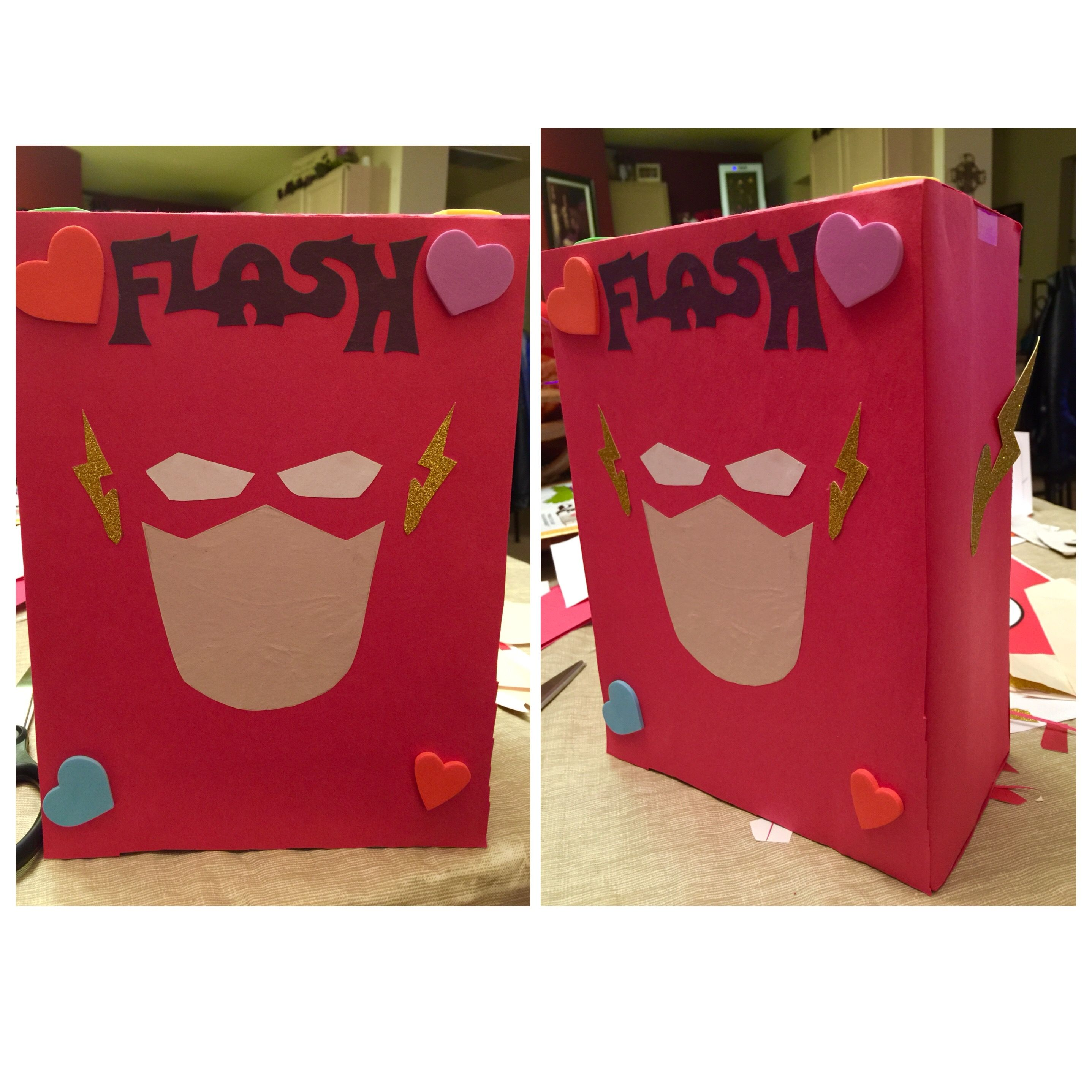 The Flash Valentine Box For Class Valentine Day Boxes