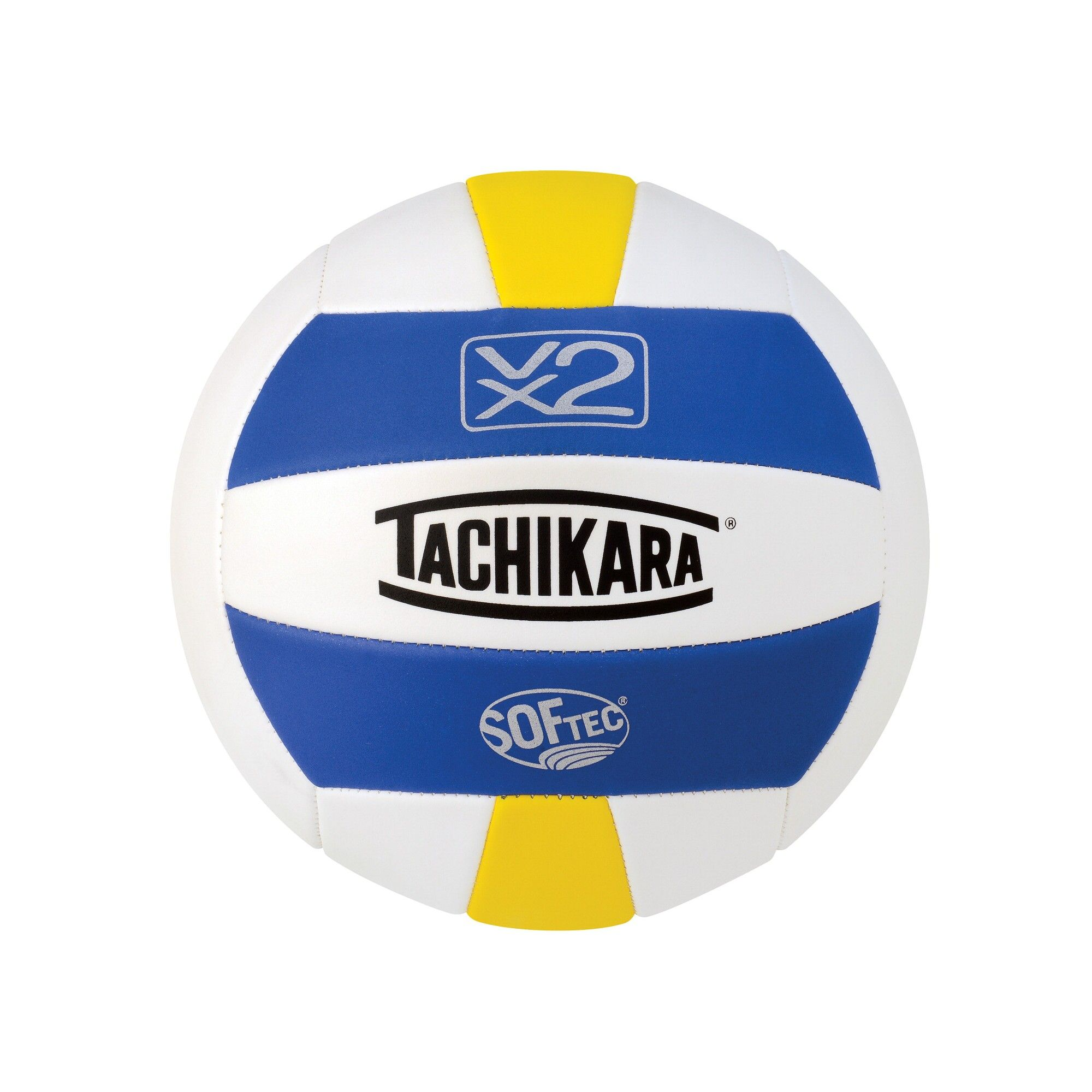 Tachikara Softec Vx2 Volleyball Royal White Yellow Volleyball Volleyballs For Sale Volleyball Online