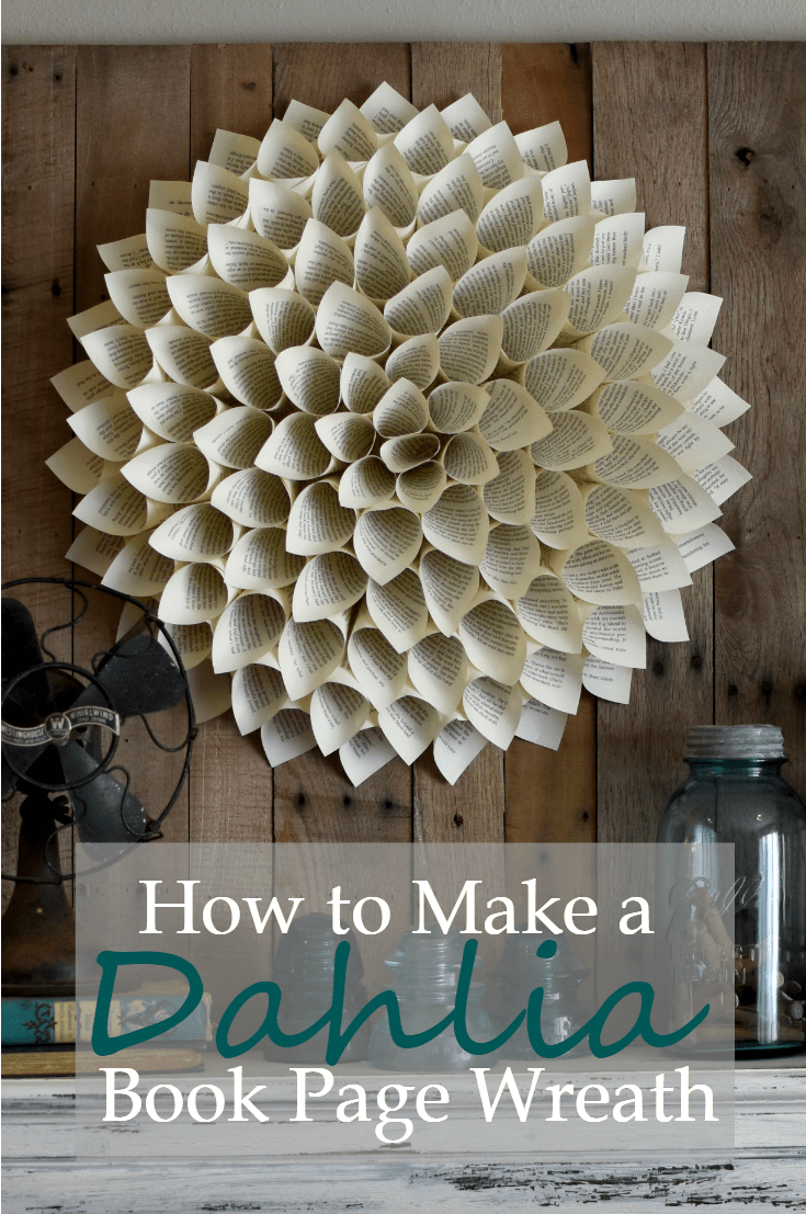 Photo of How to make a Dahlia book page wreath – A Wonderful Thought