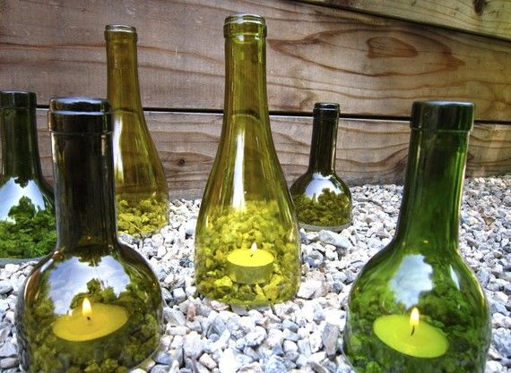 What a nice cluster of recycled wine bottles g2bottle cutter what a nice cluster of recycled wine bottles g2bottle cutter bottleart upcycle wine bottle gardenideas solutioingenieria Image collections