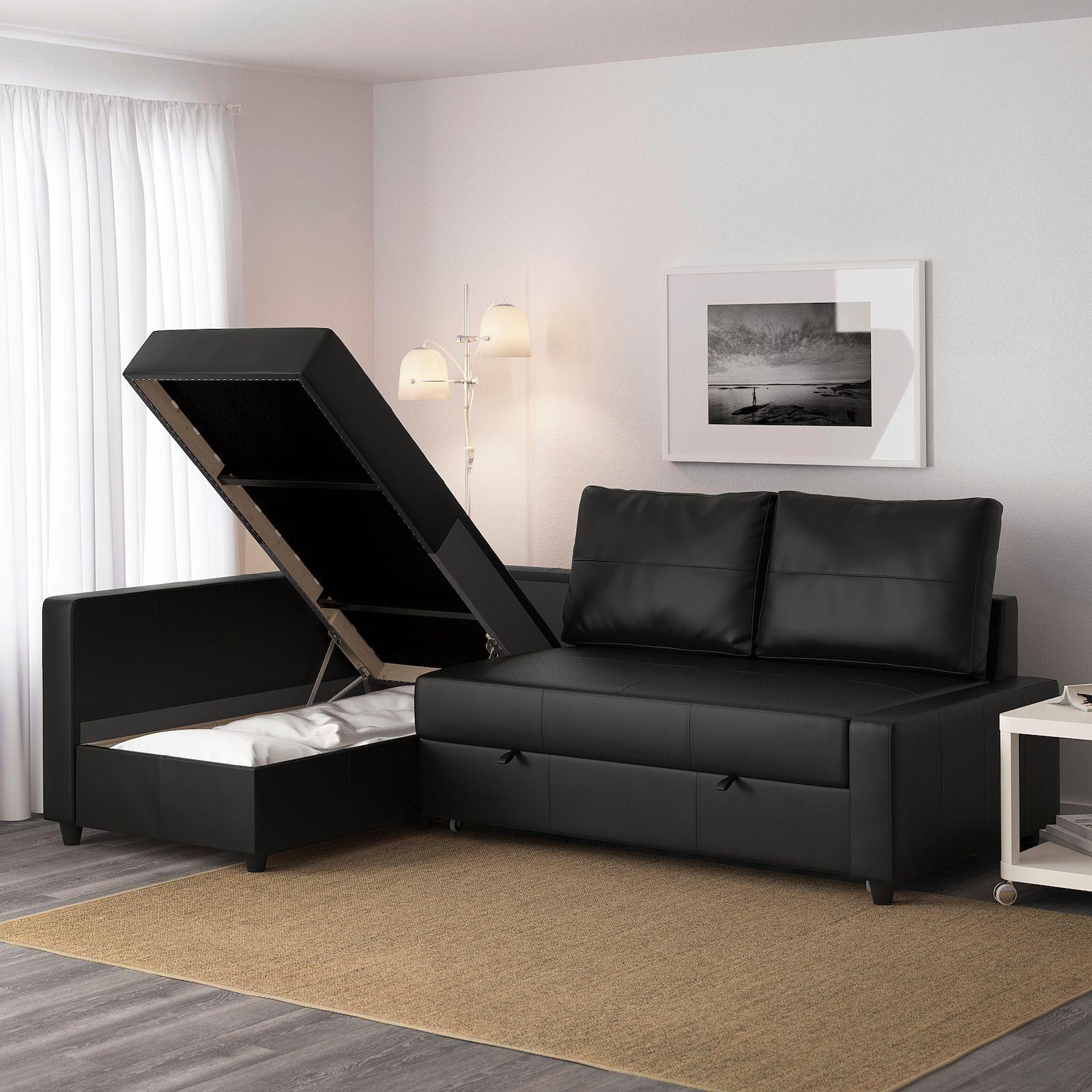Friheten Sleeper Sectional 3 Seat W Storage Bomstad Black Ikea In 2020 Sofa Bed With Storage Corner Sofa Bed With Storage Ikea Sofa Bed