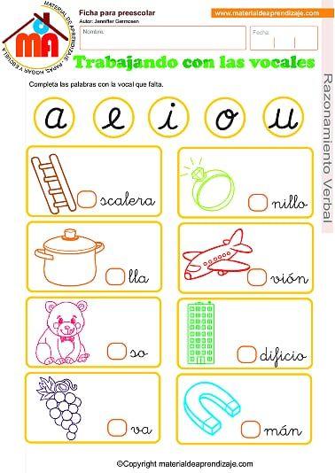 05 Trabajando Con Las Vocales Pdf Onedrive Preschool Writing Early Literacy Activities Literacy Activities