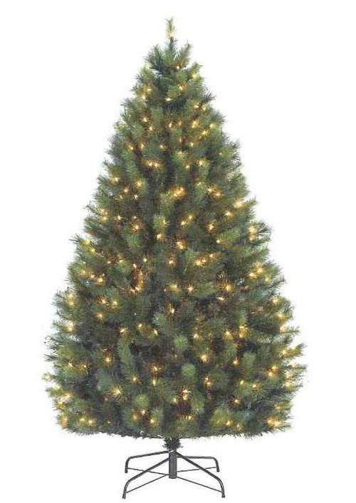 7' Pre-Lit Long Needle Syndey Pine Artificial Christmas Tree - Clear Lights - 7' Pre-Lit Long Needle Syndey Pine Artificial Christmas Tree - Clear