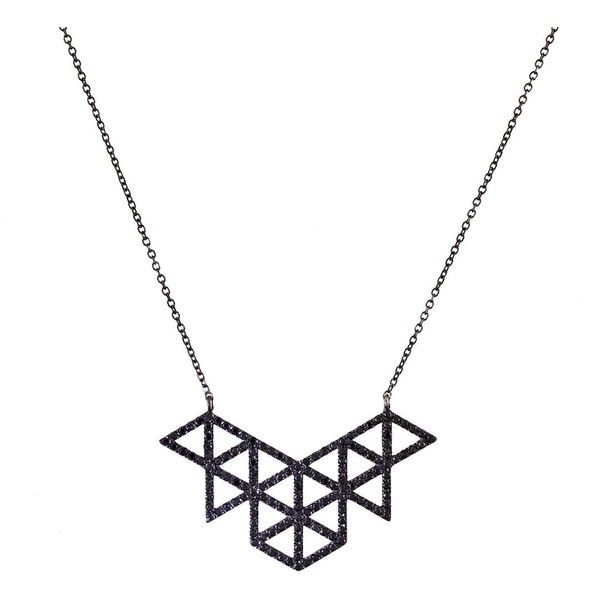 Lito Black Diamond Izel Pendant Necklace ($3,010) ❤ liked on Polyvore featuring jewelry, necklaces, accessories, pendants & necklaces, black diamond necklace, 14 karat gold necklace, 14k necklace and 14 karat gold jewelry
