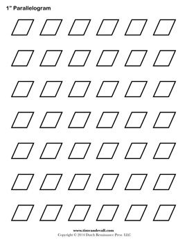 Parallelogram Template. Free printable pattern for English Paper ... : free printable quilt stencils - Adamdwight.com