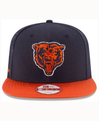 20029e38cfbe0f New Era Chicago Bears Sideline Classic 9FIFTY Snapback Cap - Navy/Orange  Adjustable