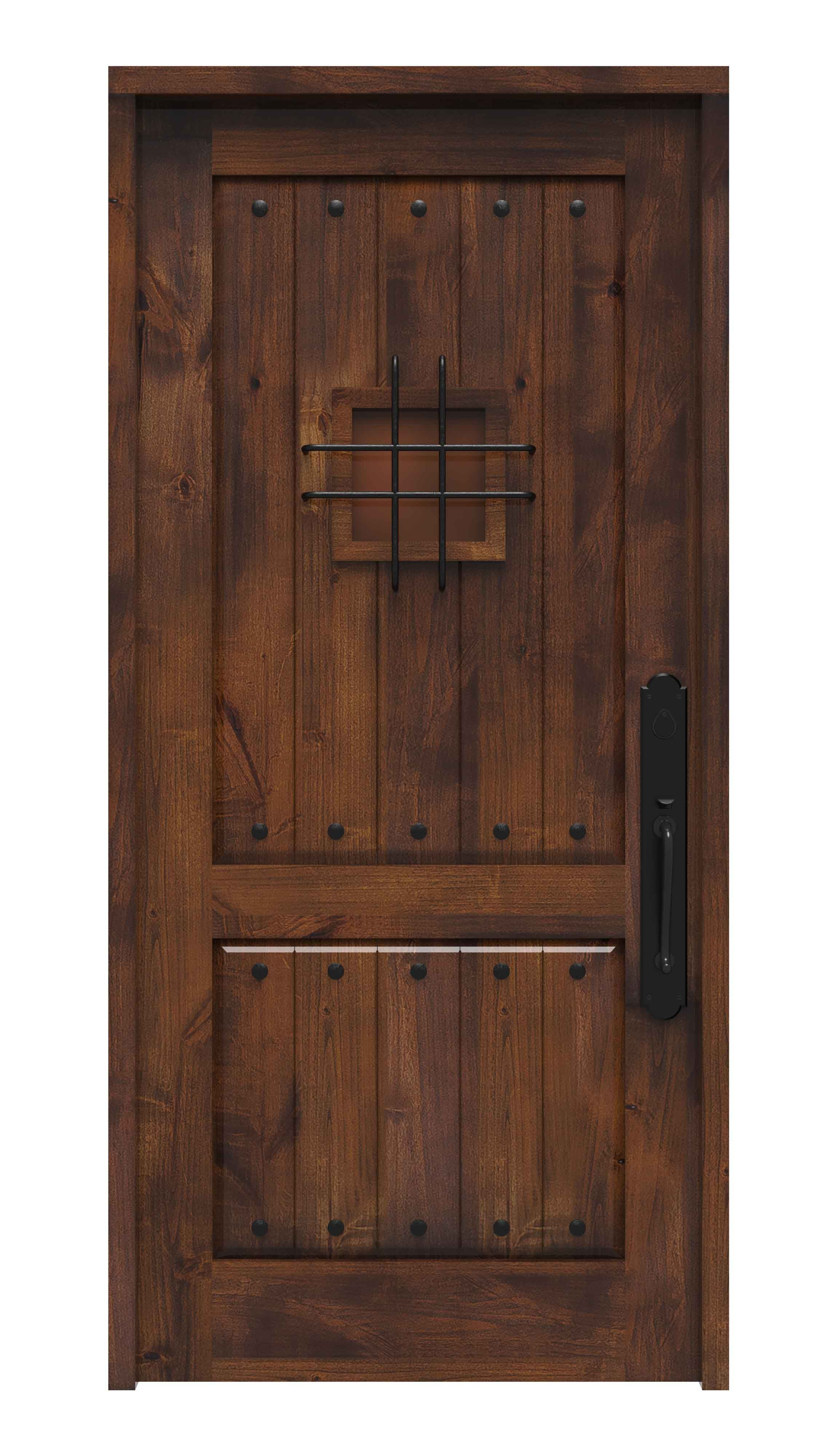Add A Spanish Flavor To Your Home With Rustica S Spanish Style Front Doors Our Solid Wood Doors Co Rustic Front Door Wood Front Entry Doors Custom Front Doors