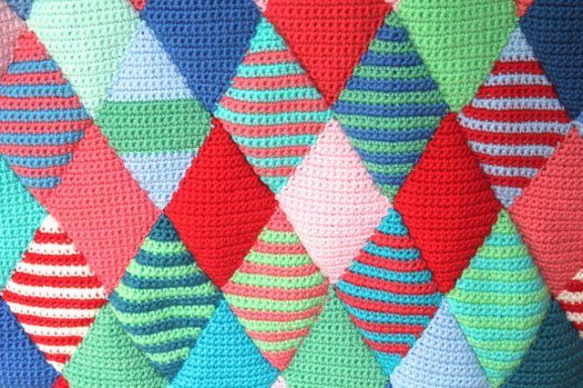 Little Woollie Diamond Crochet Progress Crotchet Blankets