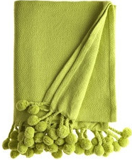 pom pom throw in lime green house beautiful. Black Bedroom Furniture Sets. Home Design Ideas