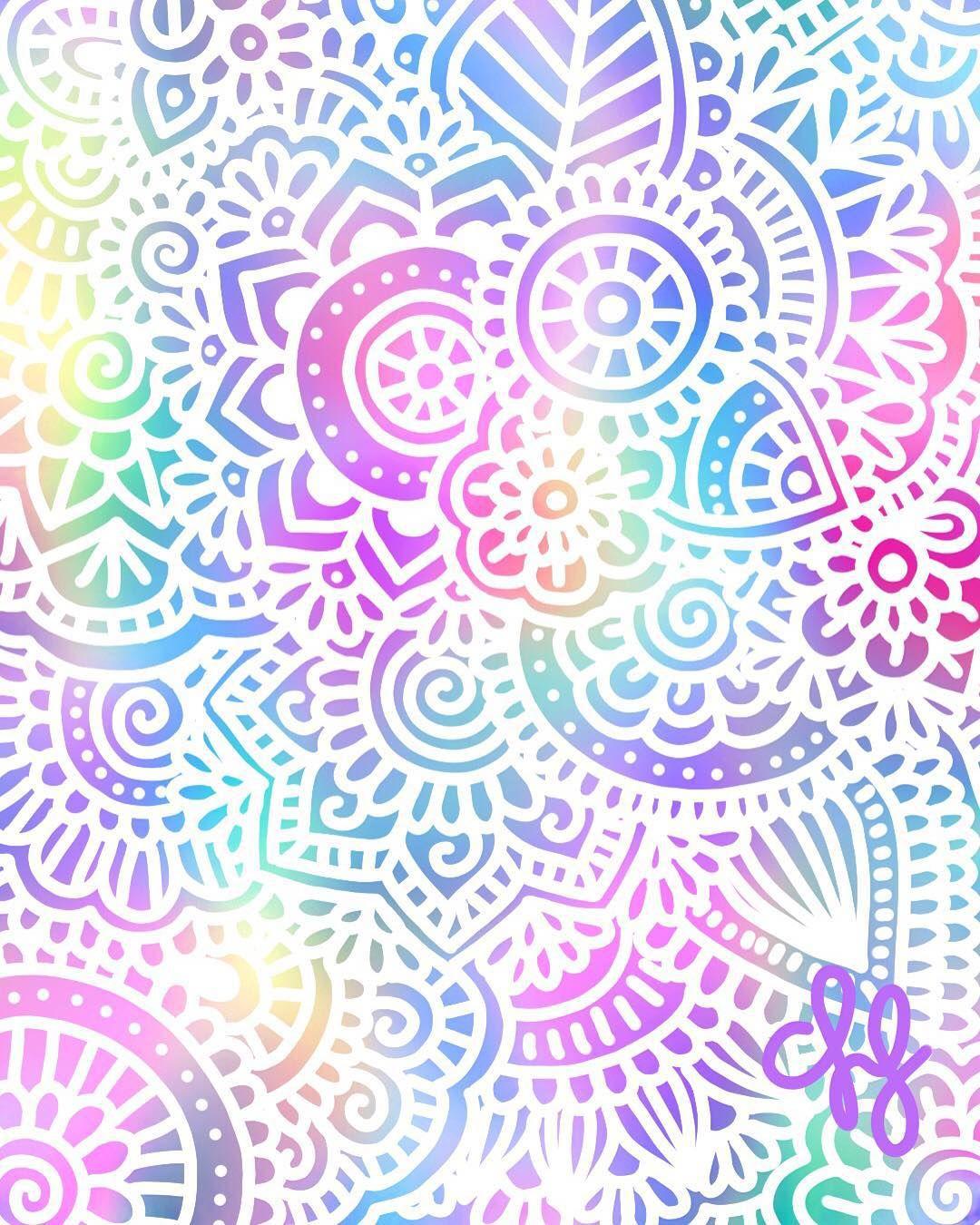 Colores felices Ms Mandala Pinterest Wallpaper Mandalas a