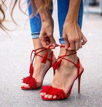 Love Aquazzura Red Shoes