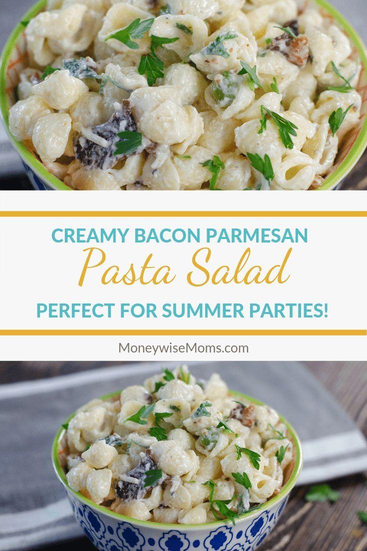 Creamy Bacon Parmesan Pasta Salad - Moneywise Moms Creamy Bacon Parmesan Pasta Salad - favorite fla