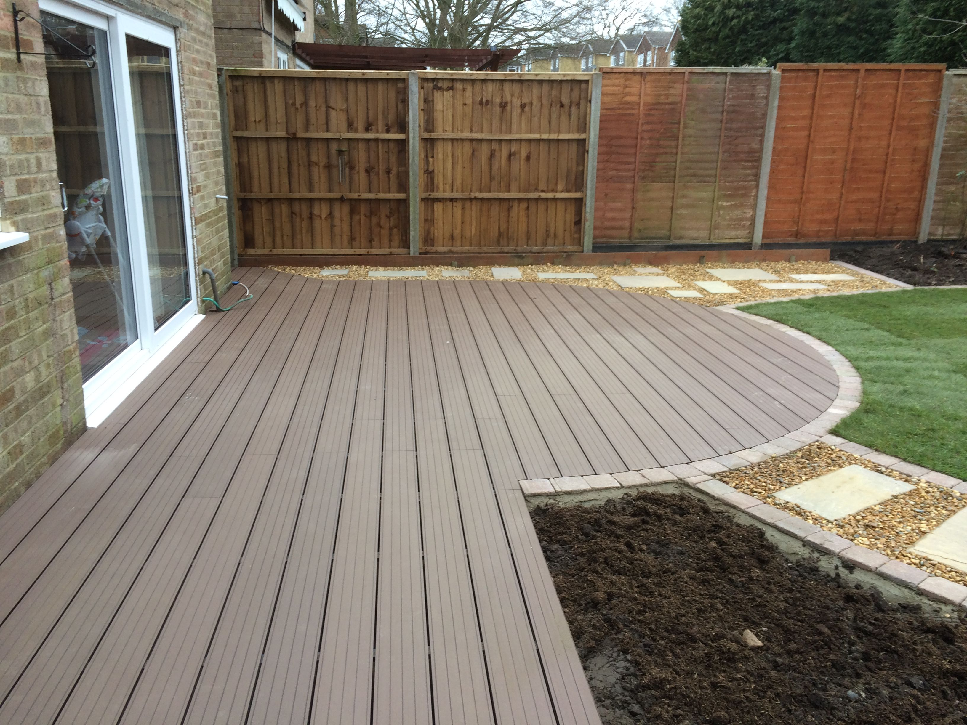 Maintenance free posite decking in coffee any shape or