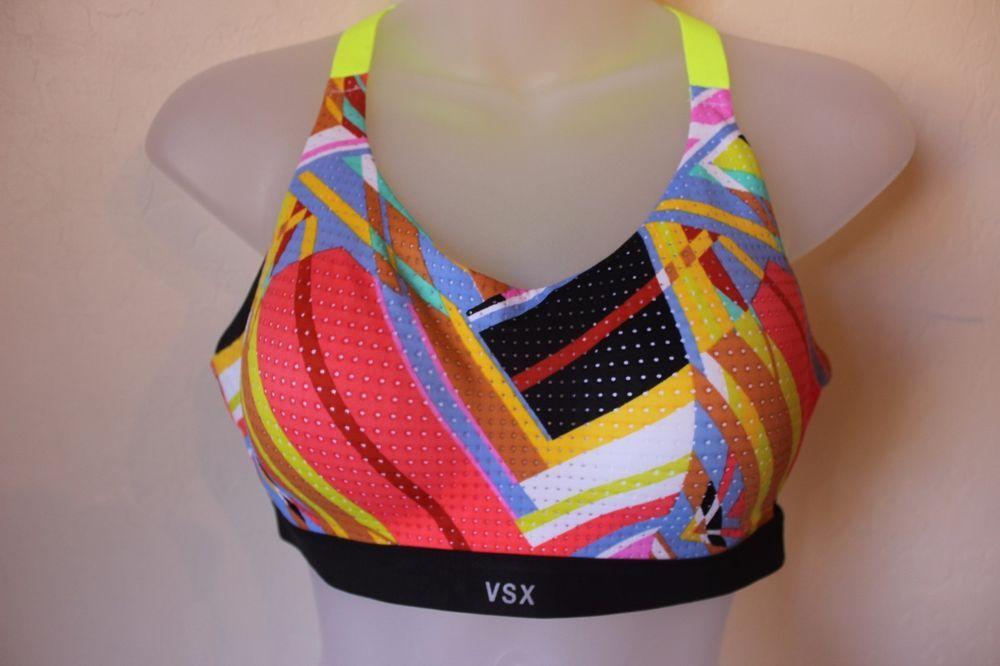 VSX Sport Victoria's Secret Multi Color Pattern Yellow