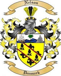 Nelson Family Coat Of Arms From Denmark Family Crest Crest Coat Of Arms