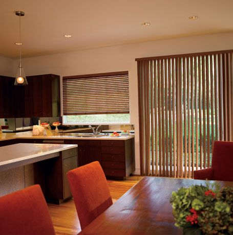 Vertical And Horizontal Blinds In Same Room House