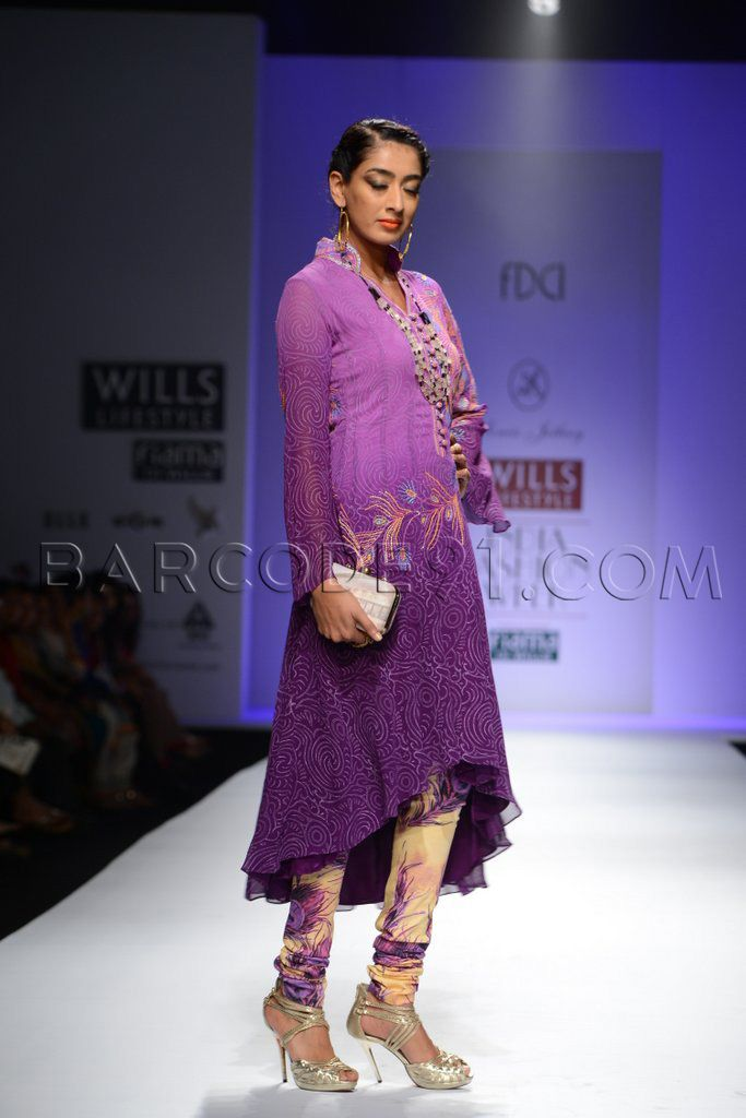 Shaded purple anarkali suit. | Anarkali | Pinterest