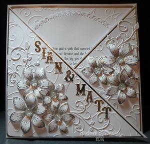 CRISS-CROSS WEDDING CARD  HANDMADE BOX by: carolynshellard