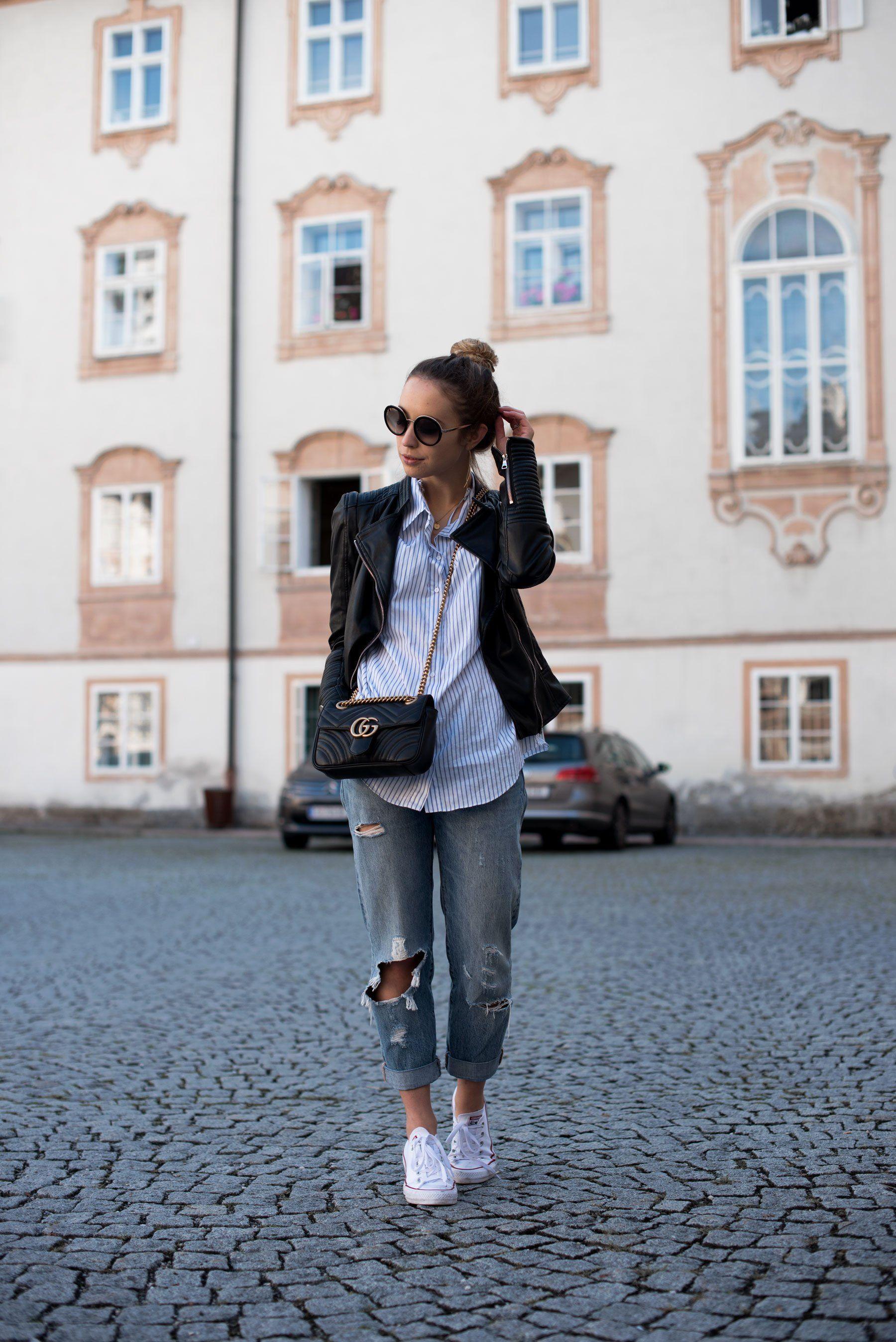 95868343e3 Styling Tipps kleine Frauen, Mode für kleine Frauen, Styling Ideas,  Boyfriend Jeans,