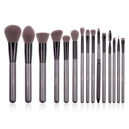 DUcare Makeup Brushes Set 15Pcs Synthetic Foundation Contour EyeShadow Powder Blending Cosmetic Tool Source by walmart Tools brushes