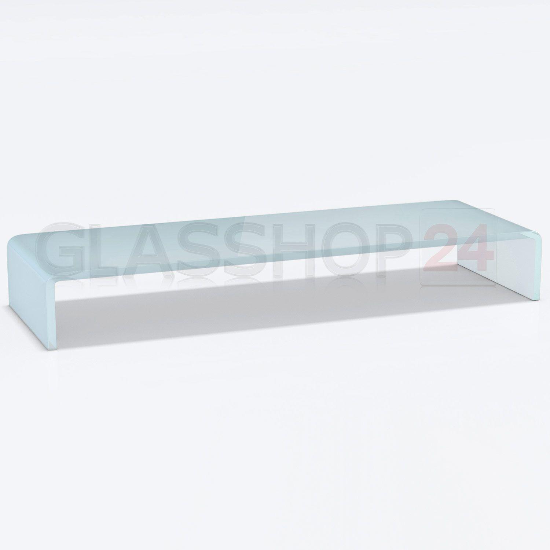 details zu tv glasaufsatz glas tisch tv aufsatz monitor erh hung lcd glasb hne podest m bel. Black Bedroom Furniture Sets. Home Design Ideas