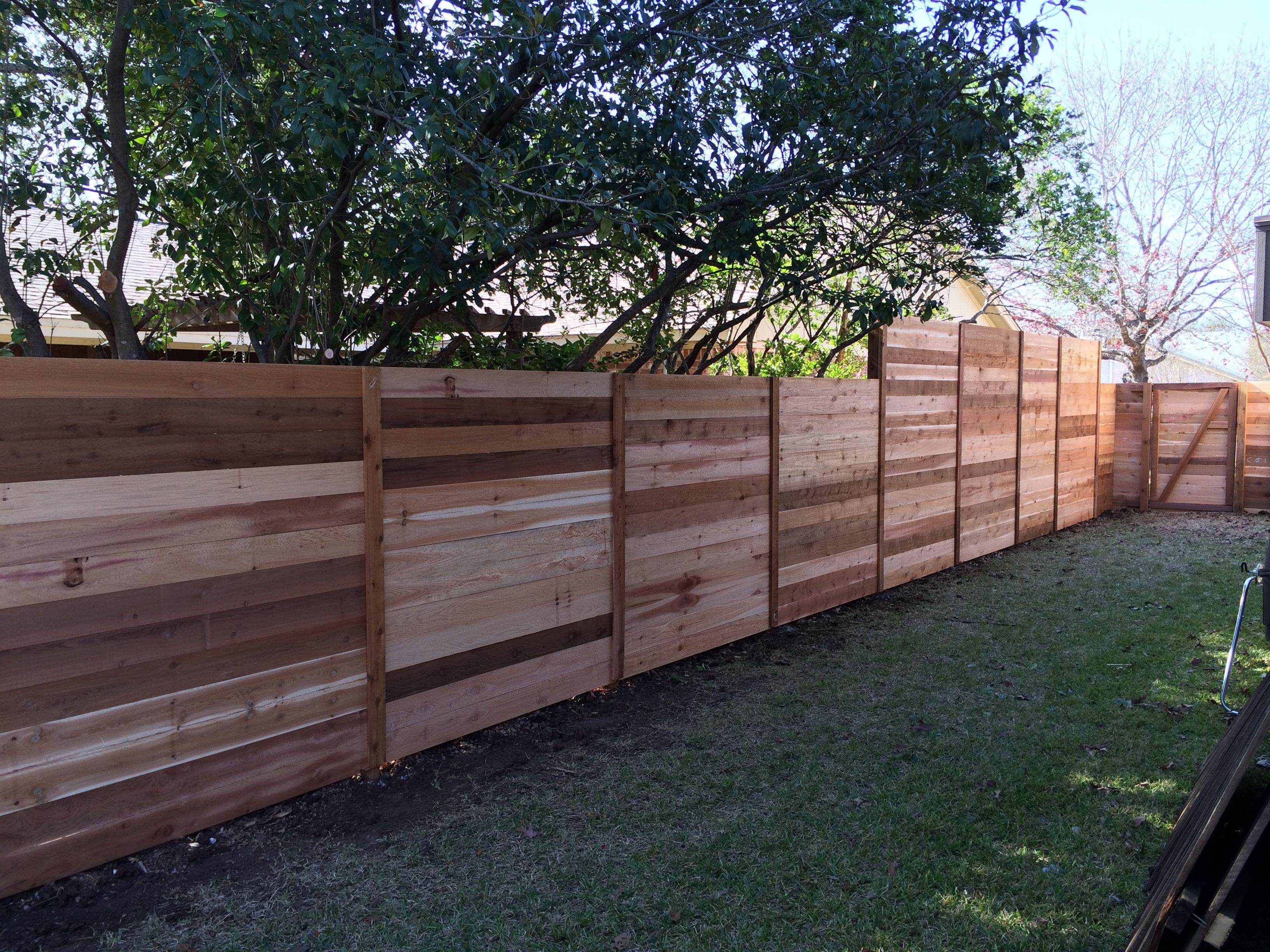 6 39 H Western Red Cedar Horizontal Fence Horizontal Wood