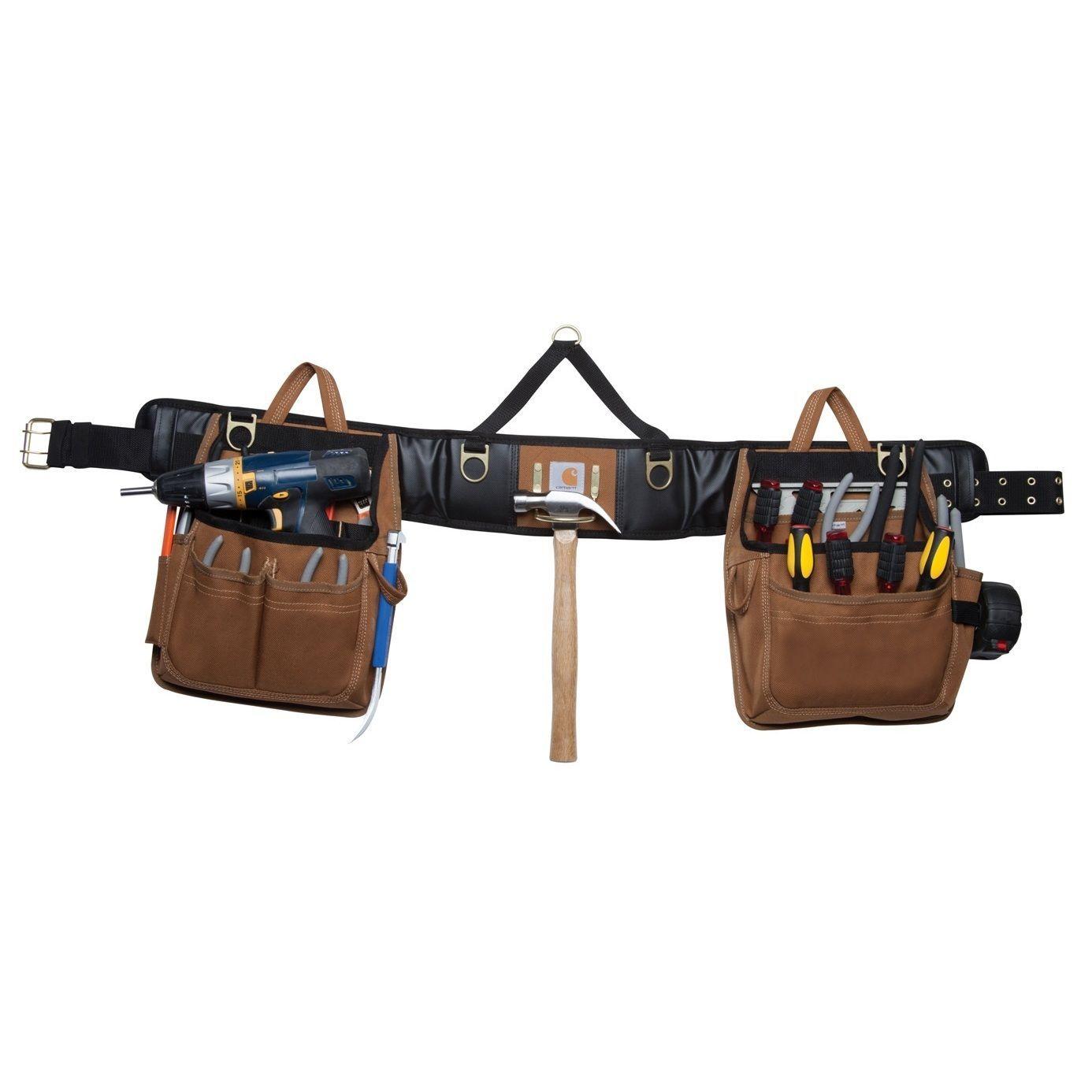 Tool Belt Leather Pouch Occidental Electrician Bag Pocket Framer Carpenter Pvc