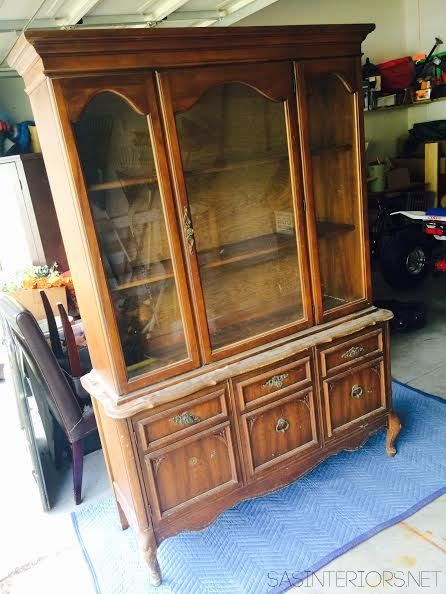 Craigslist China Cabinet - Before the makeover: The
