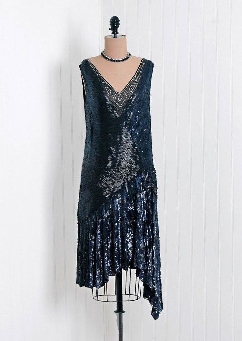 Gorgeous Sequined 1920 S Dress Via Timeless Vixen Vintage 20