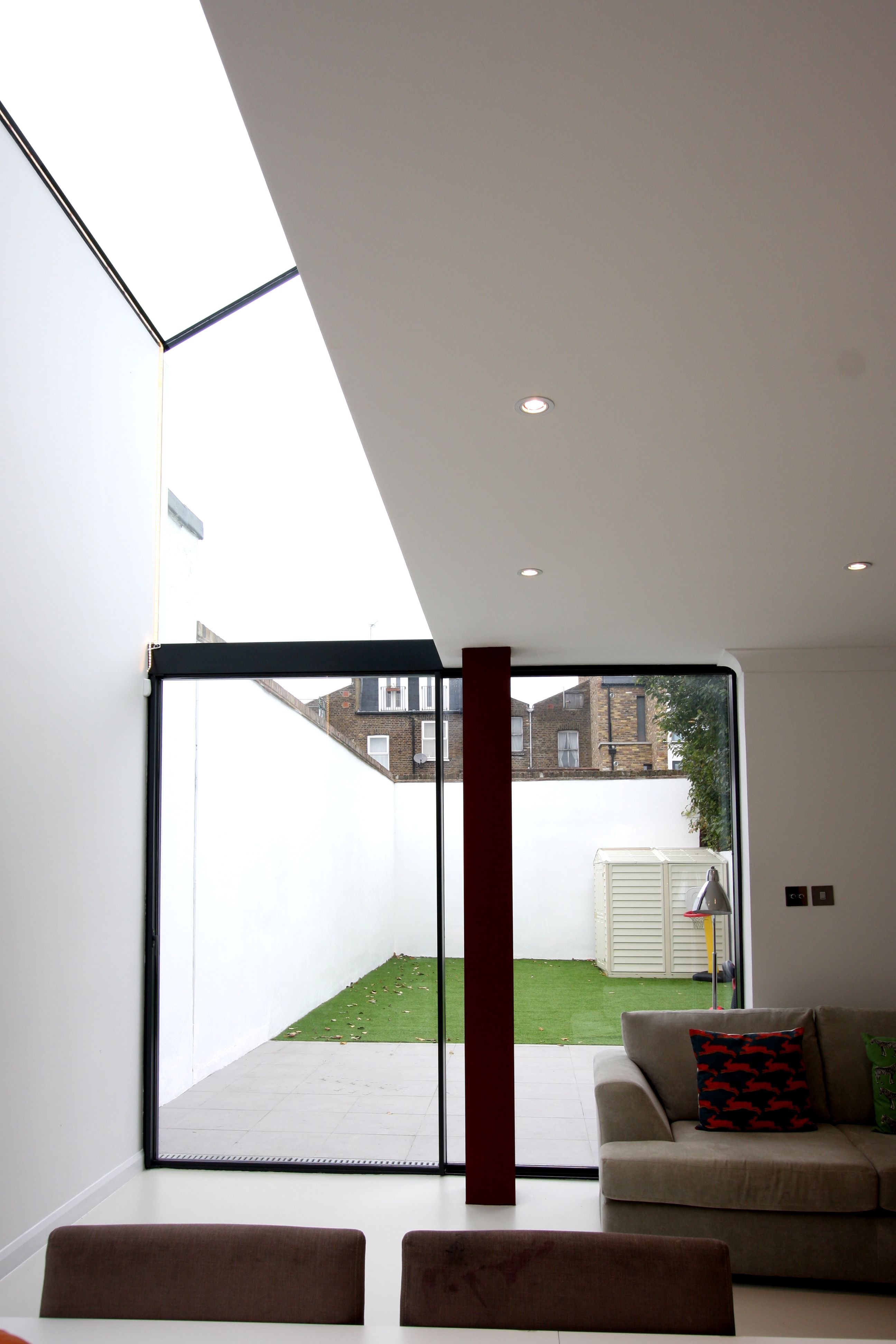 Glass Infill Photo Gallery: Minimal Windows As Patio Sliding Doors To Side Infill Extension