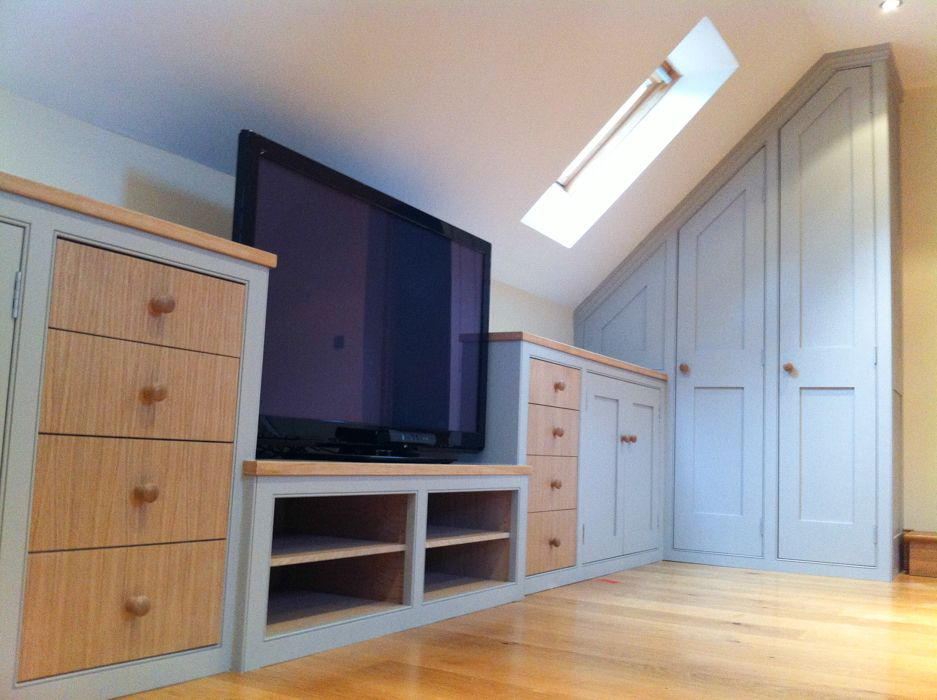 Other View Of The Teenagers Den Of Under Eaves Attic Cupboards - Fitted loft bedroom furniture