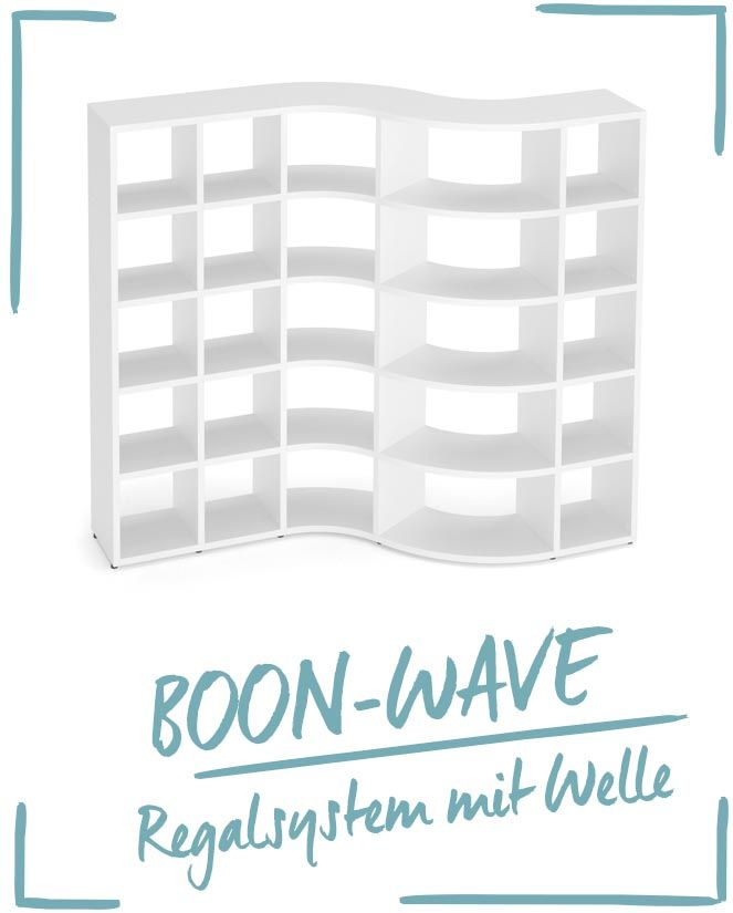 Ein ganz besonderer Raumteiler für das Wohnzimmer - Wellenregal - raumteiler für wohnzimmer