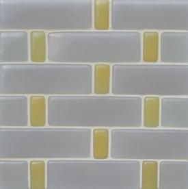 fireclay glass tile custom mosaic. I like this pattern w/ subtle colors.