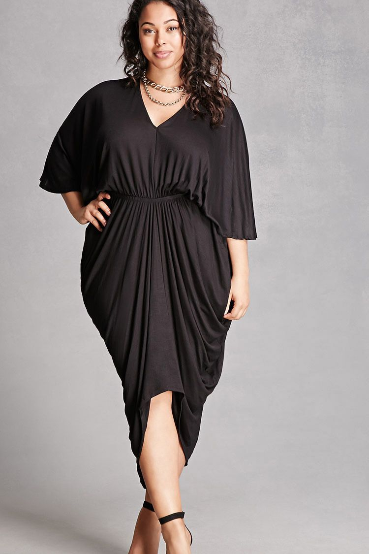 Plus Size Draped Dress | my lookbook | Plus size dresses ...