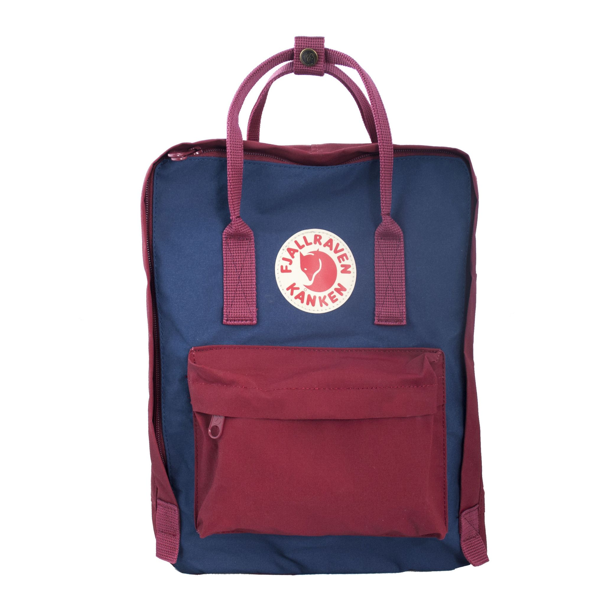 ox red and white kanken classic
