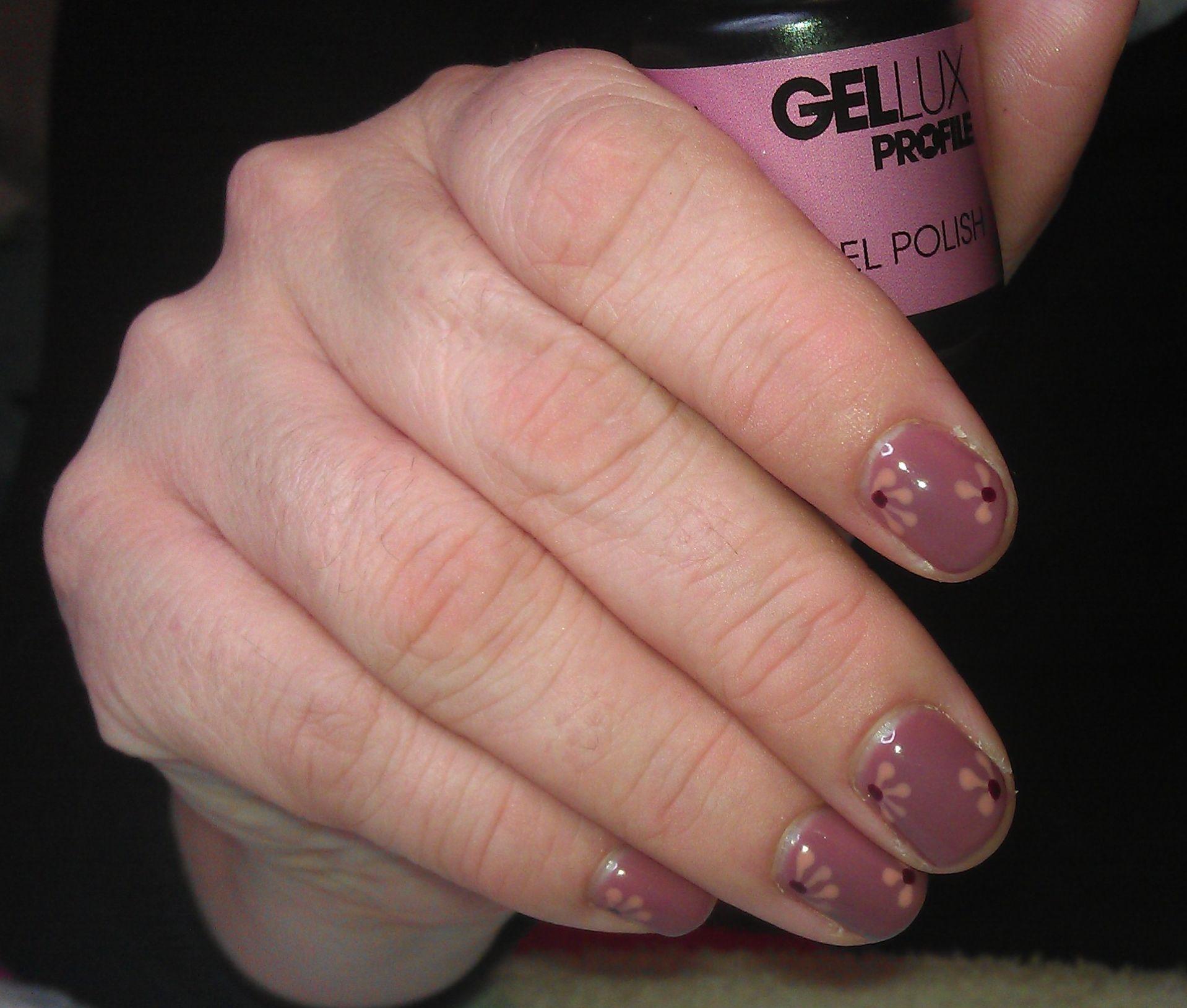 Gellux Nail Art - Rose Damask Base   Gellux designs   Pinterest ...