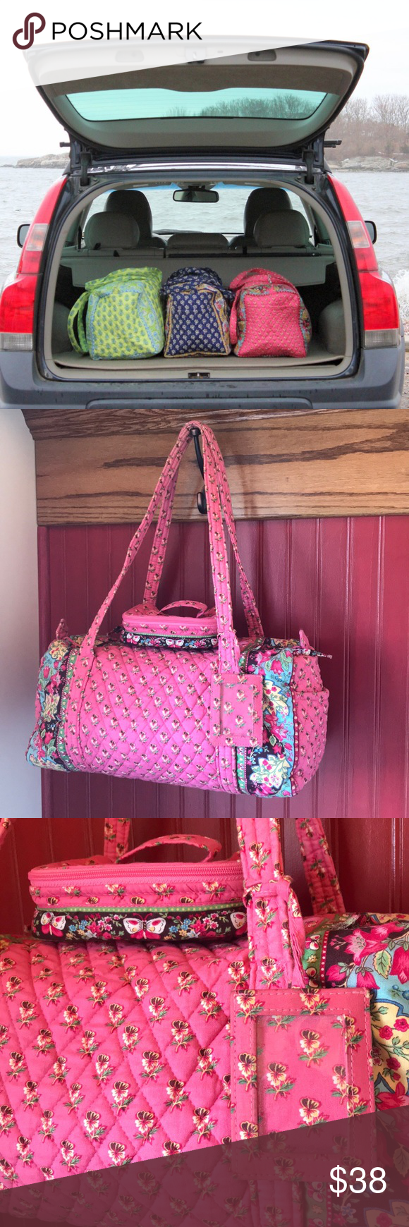 404de0ce37 💕🌸LOT of retired Vera Bradley PINK PANSY🌸💕 Gently used for travel from
