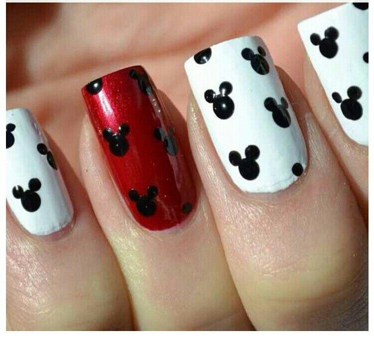 Mickey mouse | fingernail designs | Pinterest | Diseños de uñas