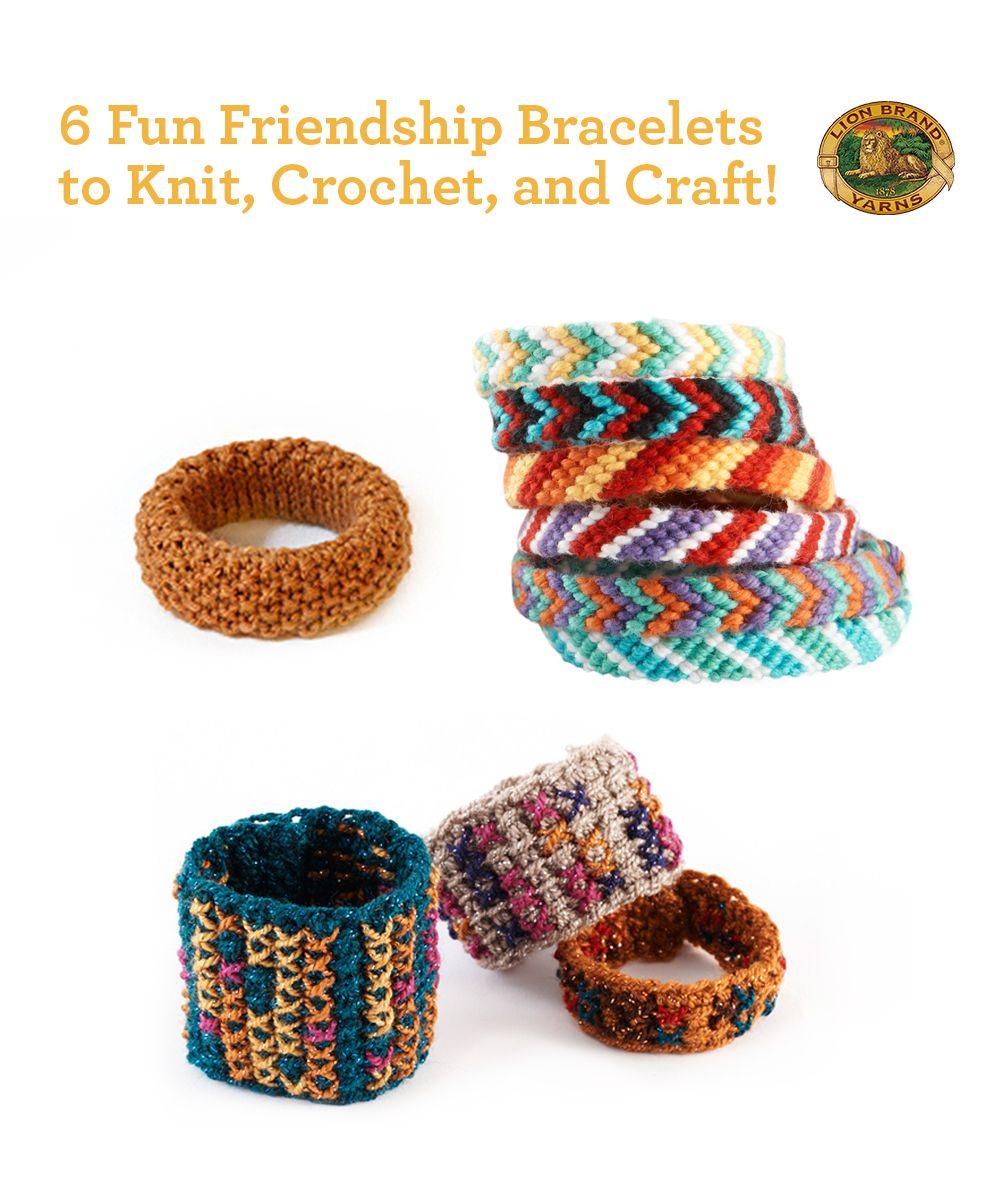Brace yourself crochet and crafted friendship bracelets brace yourself crochet and crafted friendship bracelets crochet projectscrochet ideascrochet patternslion brand yarnfree knittingknitting ideasbracelet bankloansurffo Images