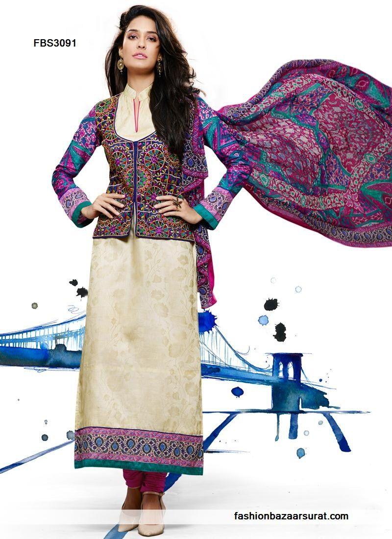 Crystal Cream Cotton Lengthy Straight Suit