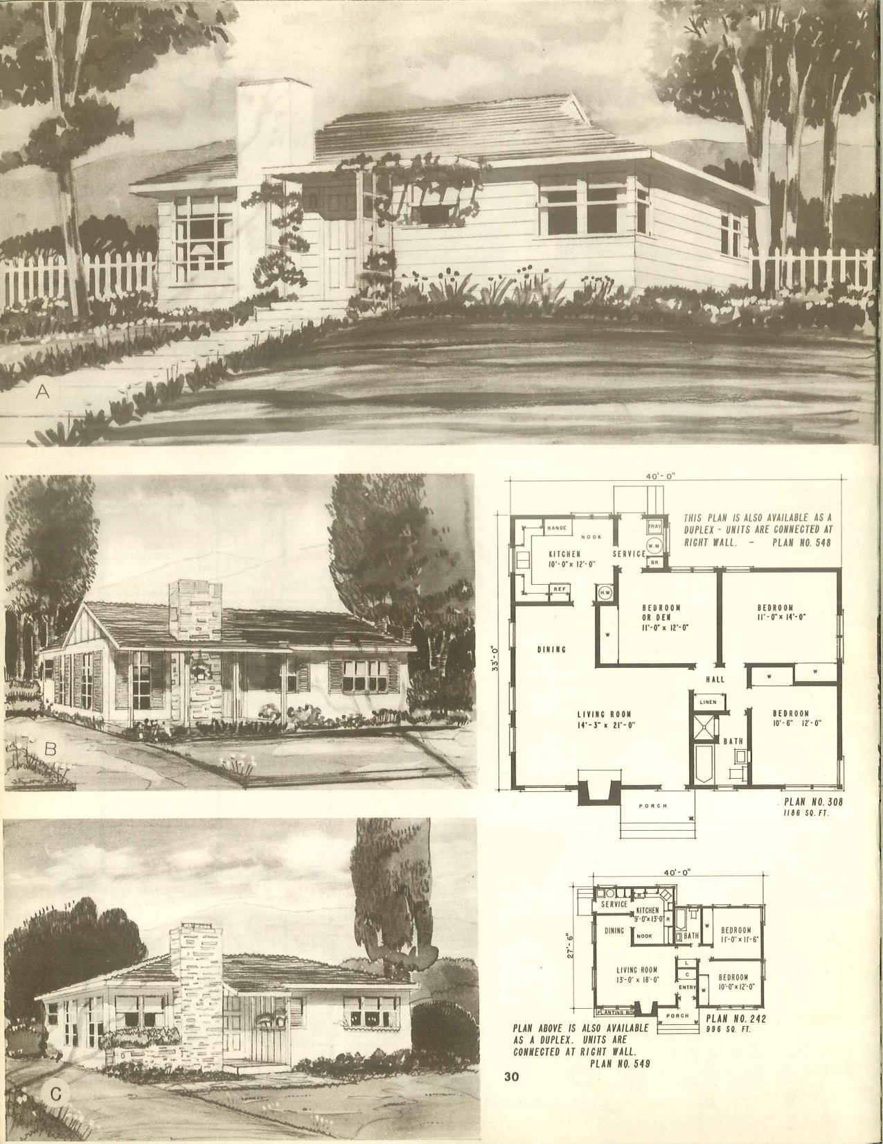 Harmonious Homes Vintage House Plans House Plans Residential House