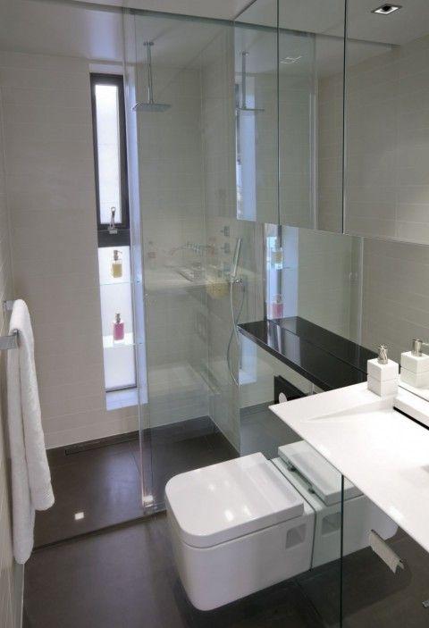 Apartamento minimalista b a t h r o o m s ba os ba os for Banos modernos para apartamentos pequenos