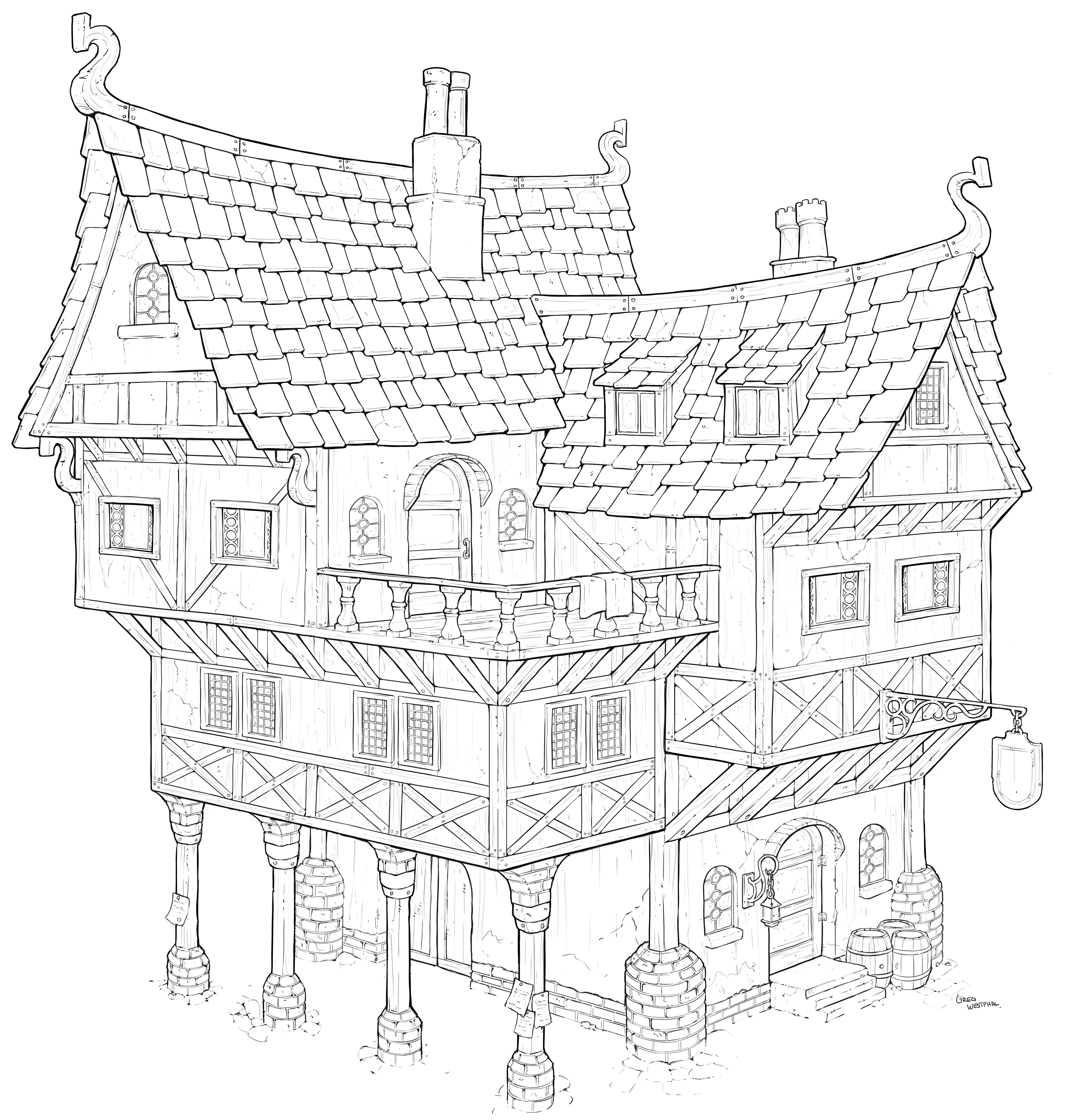 2d Conceptbank Post Your Concepts To Model Page 5 Environment Concept Art Doodle Art Drawing Isometric Art