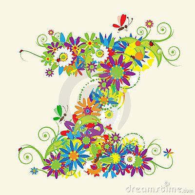 Letter Z Floral Design Lettering Design Lettering