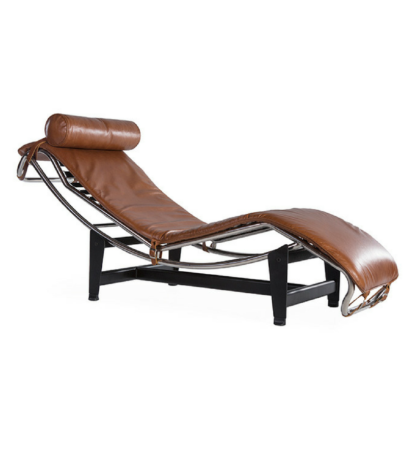 Tan Leather LC4 Le Corbusier Chaise Longue