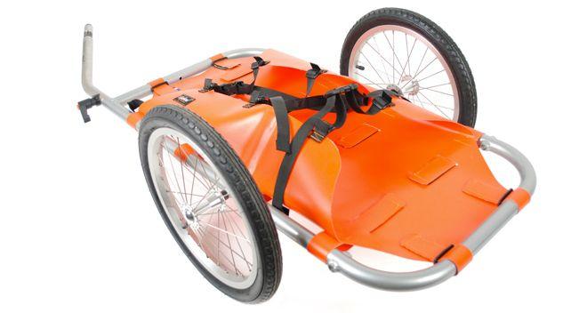 radical designs orange bike trailer | bicycle camping, mountain