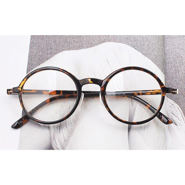 Vintage trend eyeglasses Oliver 7468 tiger skin eyewear kpop peoples ...